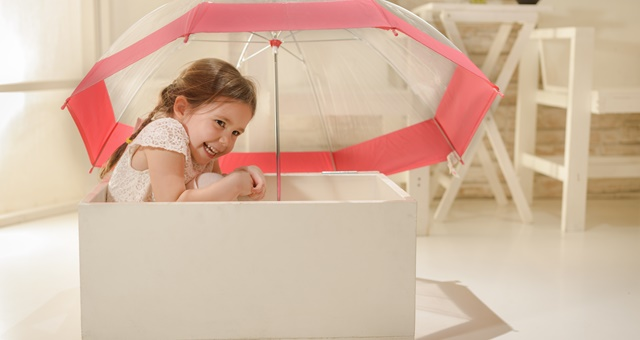 Storage Insurance Girl with Umbrella