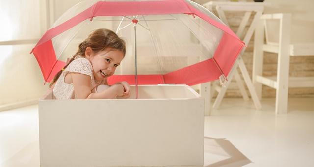 Storage Insurance Girl with Umbrella