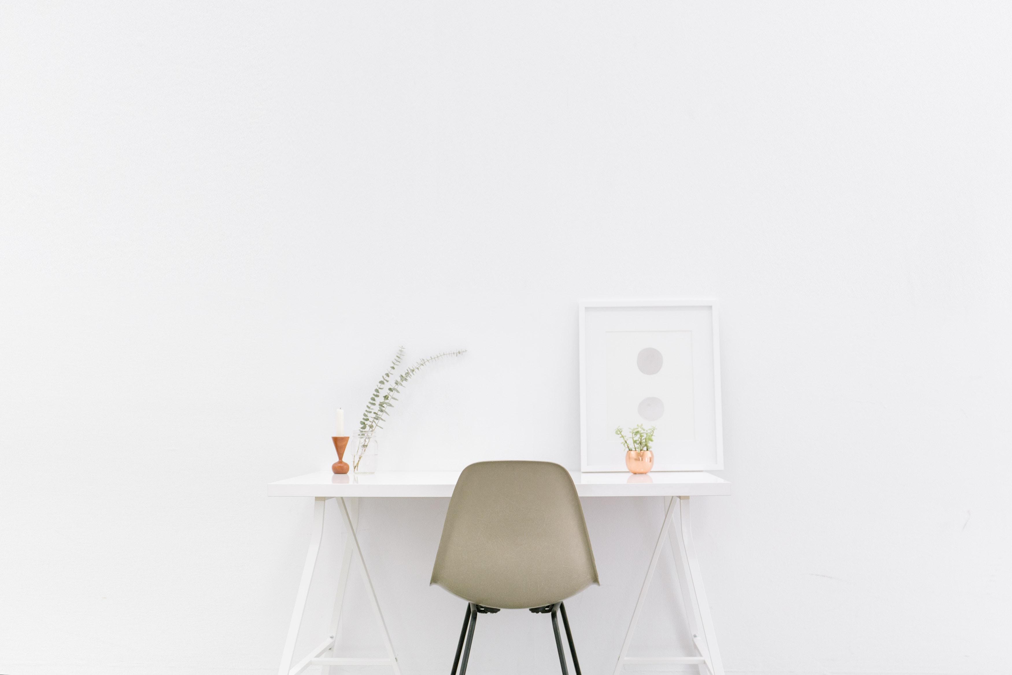 Bench white with chair and flower   Edinburgh Self Storage